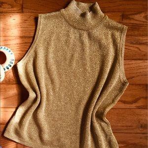 ✨ Metallic Golden Mock Neck Sweater ✨